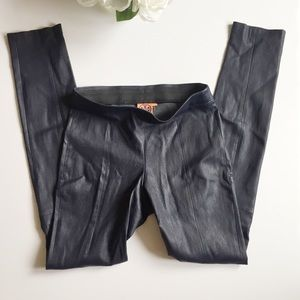 Tory Burch Pants - Tory Burch Davis leather leggings navy small
